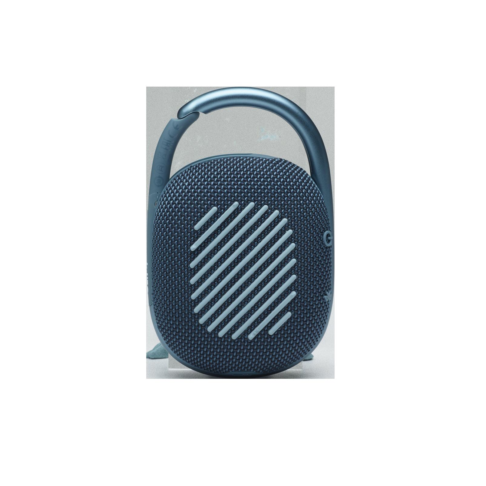 JBL CLIP 4 - Blue - Ultra-portable Waterproof Speaker - Back