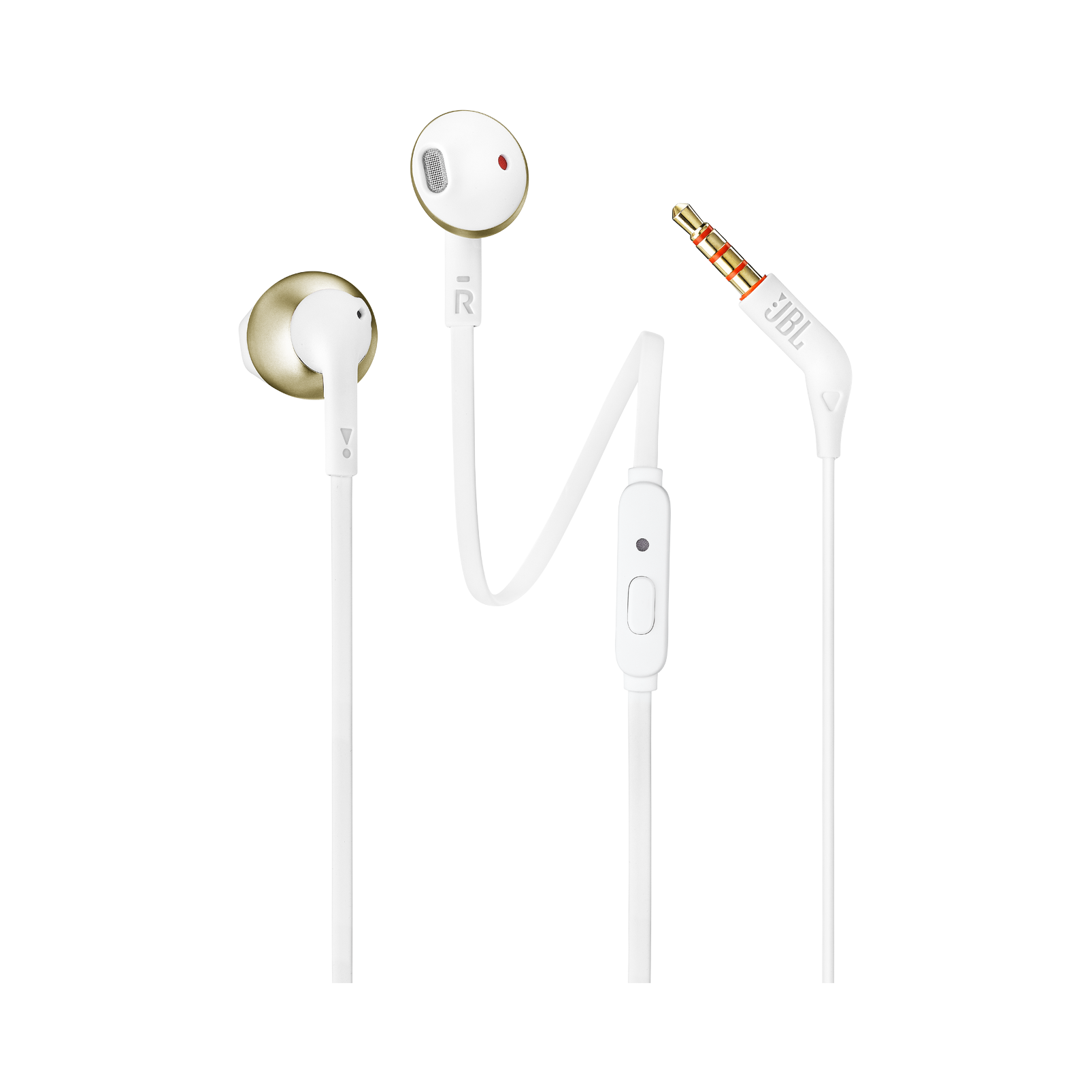 JBL TUNE 205 - Champagne Gold - Earbud headphones - Hero