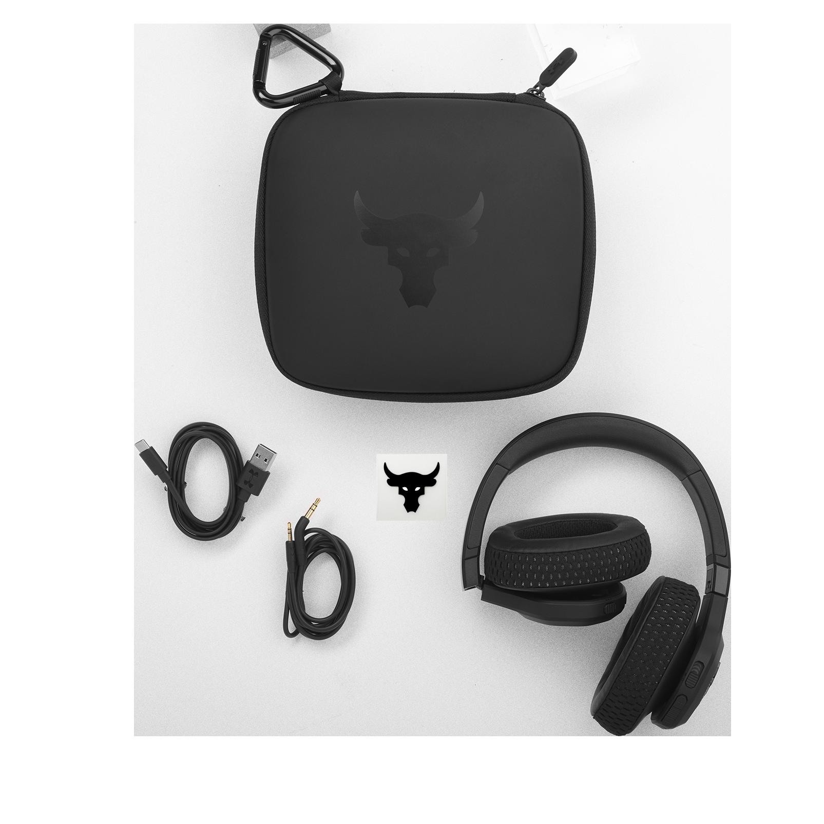 UA Project Rock Over-Ear Training Headphones - Engineered by JBL - Black - Over-Ear ANC Sport Headphones - Detailshot 5
