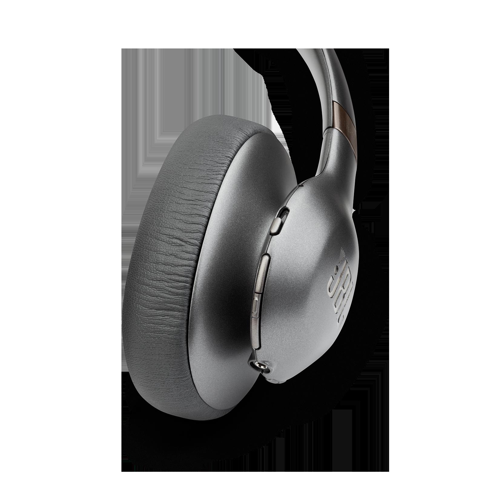 JBL EVEREST™ ELITE 750NC - Gun Metal - Wireless Over-Ear Adaptive Noise Cancelling headphones - Detailshot 2