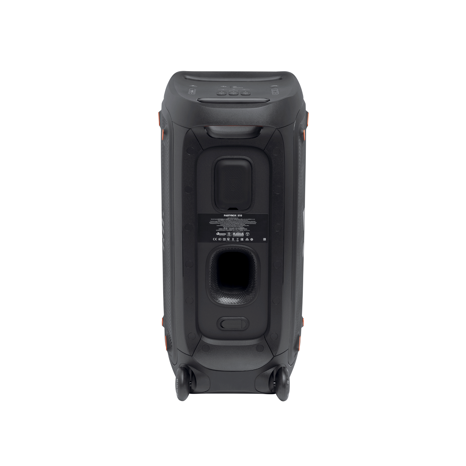 JBL Partybox 310 - Black - Portable party speaker with dazzling lights and powerful JBL Pro Sound - Back