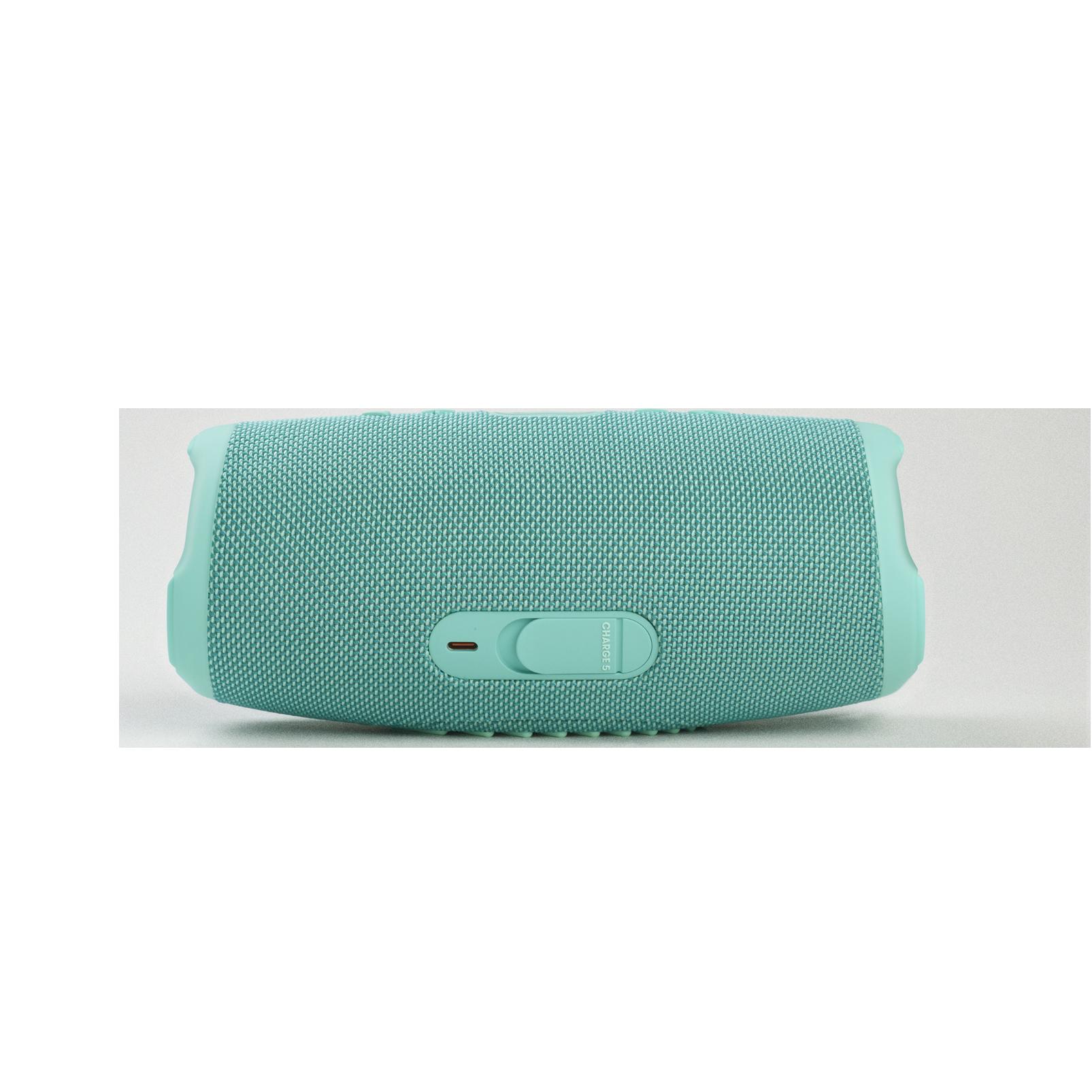 JBL Charge 5 - Teal - Portable Waterproof Speaker with Powerbank - Back
