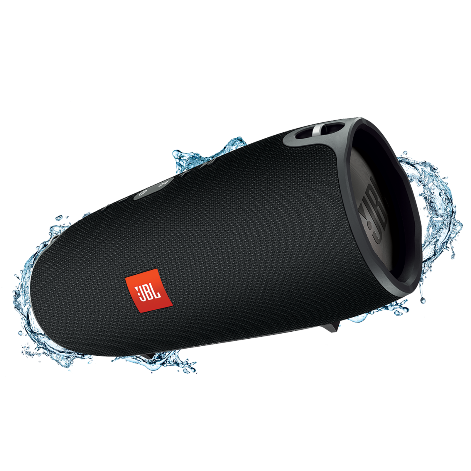 JBL Xtreme - Black - Splashproof portable speaker with ultra-powerful performance - Hero