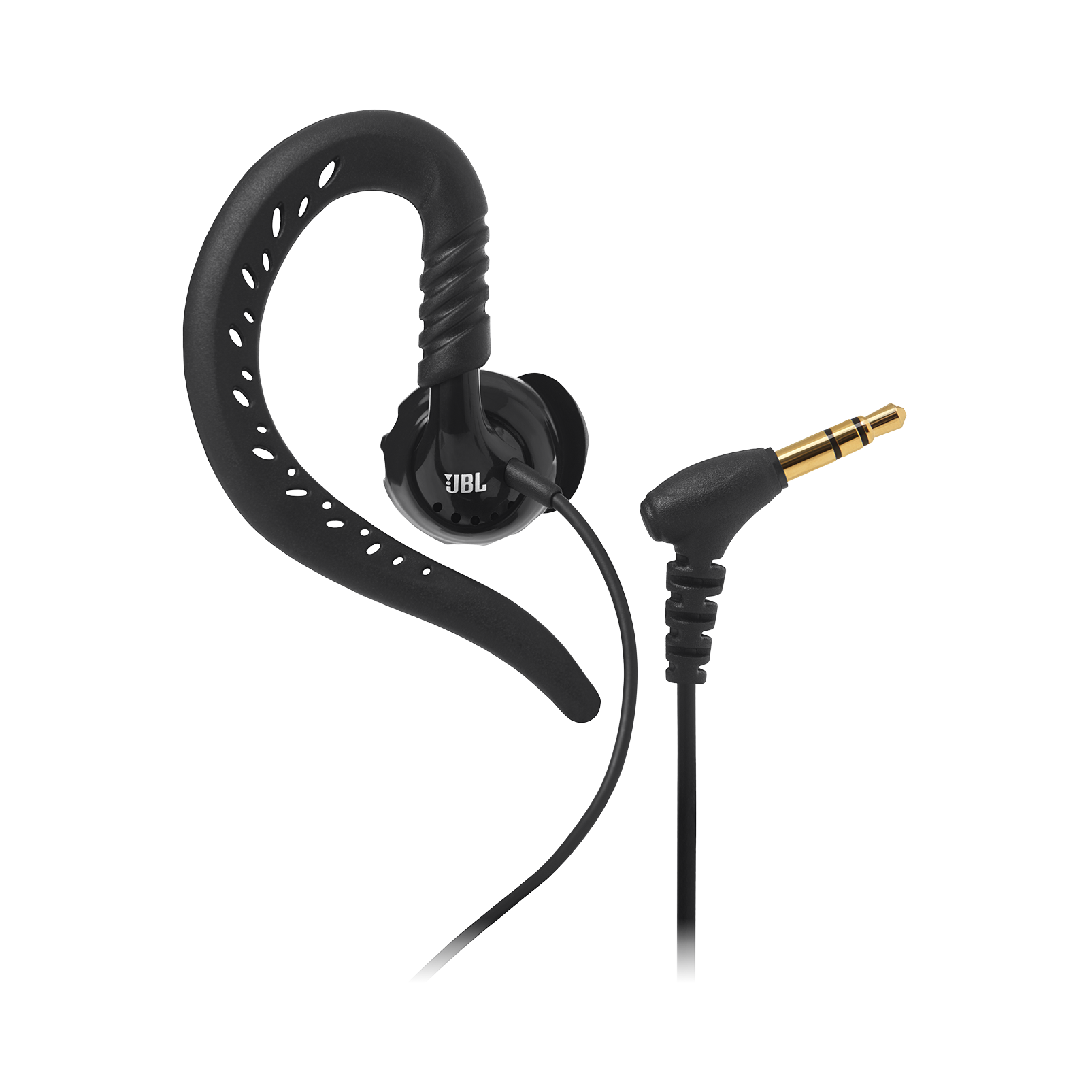 JBL Focus 100 - Black - Behind-the-ear, sport headphones with Twistlock™ Technology - Detailshot 1