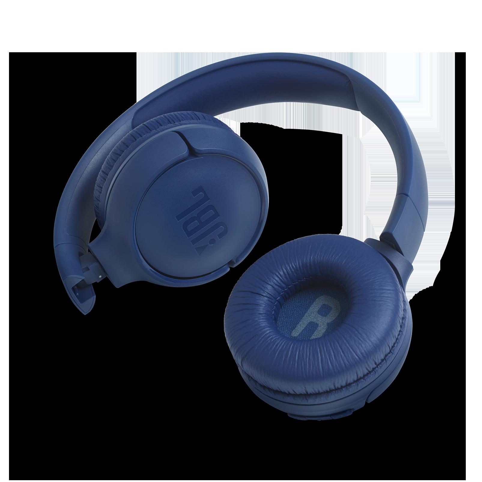 JBL TUNE 500BT - Blue - Wireless on-ear headphones - Detailshot 1