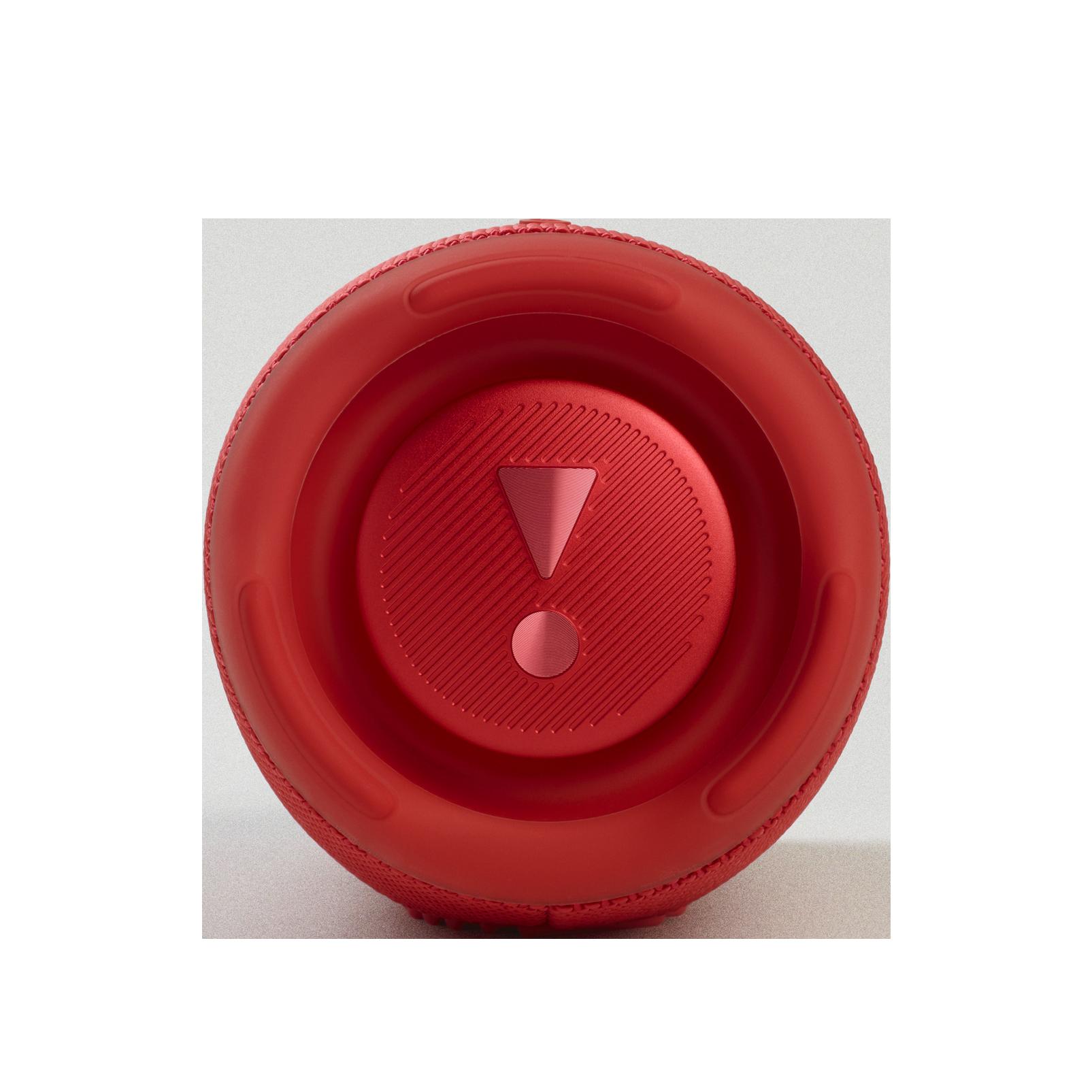 JBL Charge 5 - Red - Portable Waterproof Speaker with Powerbank - Left
