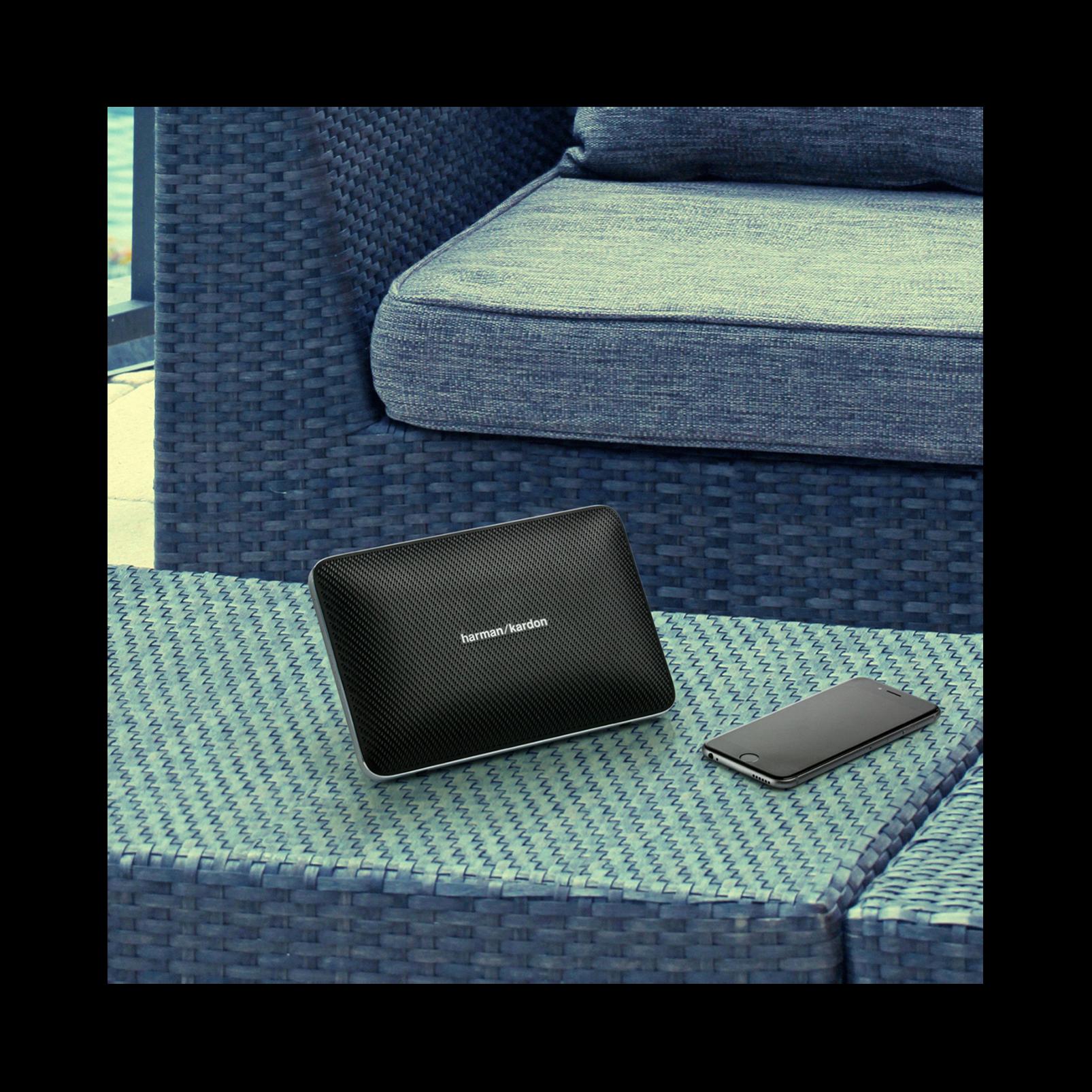 Esquire 2 - Black - Premium portable Bluetooth speaker with quad microphone conferencing system - Detailshot 8