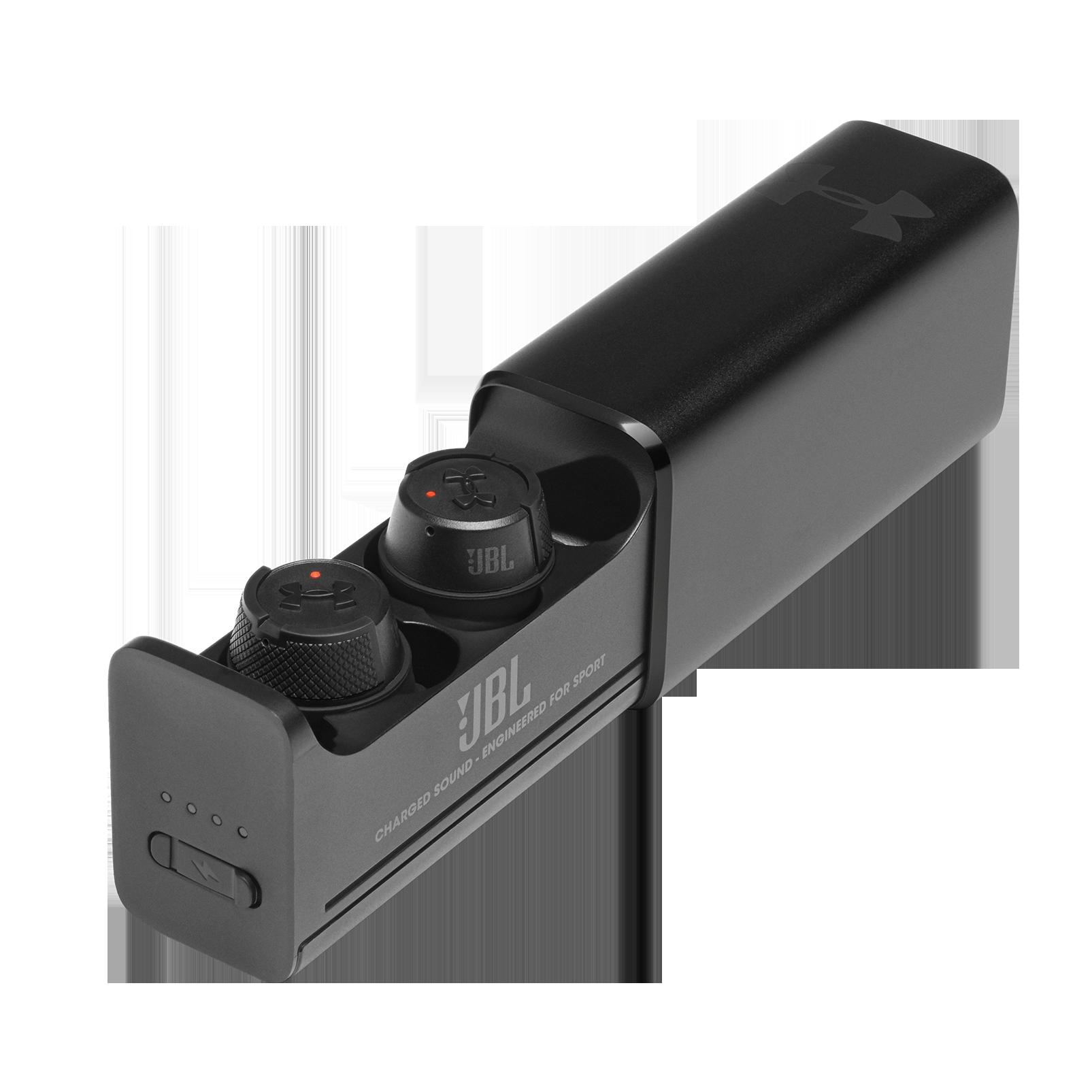 UA True Wireless Flash X - Engineered by JBL - Black - In-Ear Sport Headphones - Hero