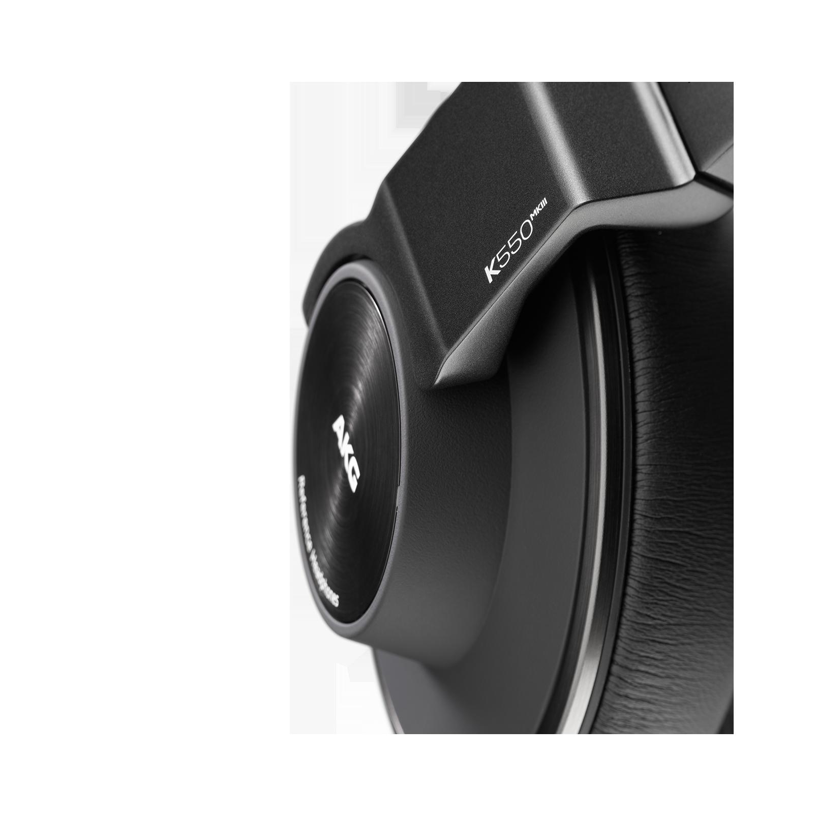 AKG K550 MKIII - Black - Closed-back reference over-ear headphones. - Detailshot 1