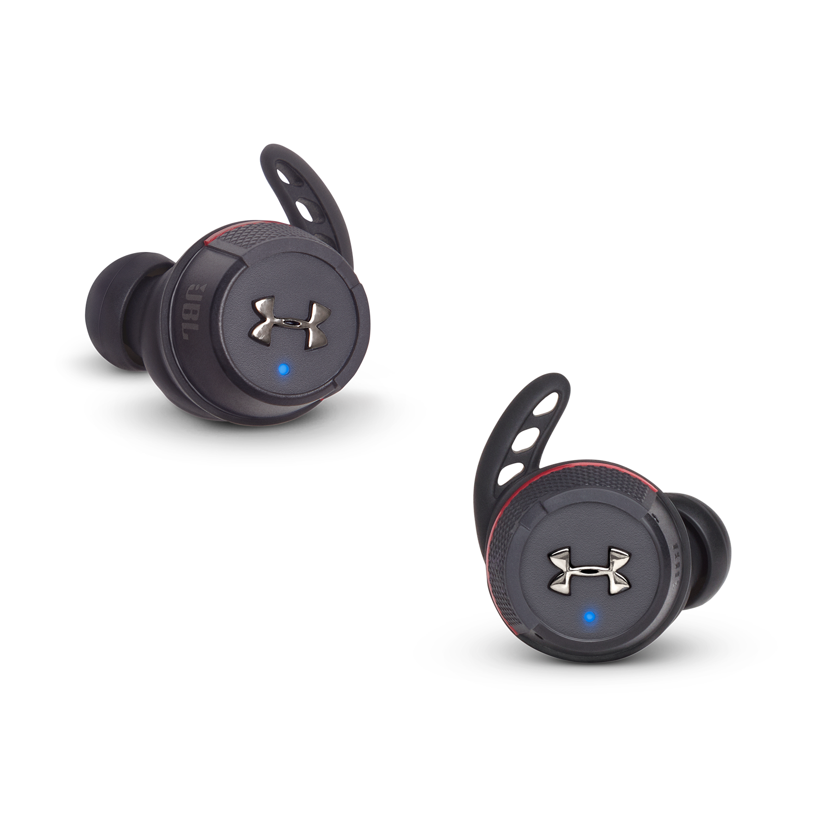 Under Armour® True Wireless Flash – Engineered by JBL® - Black - Truely wireless sport headphones for your every run, with JBL technology and sound. - Front